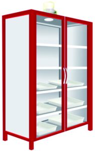Steel Chemical Storage Cabinet (2 Glass)